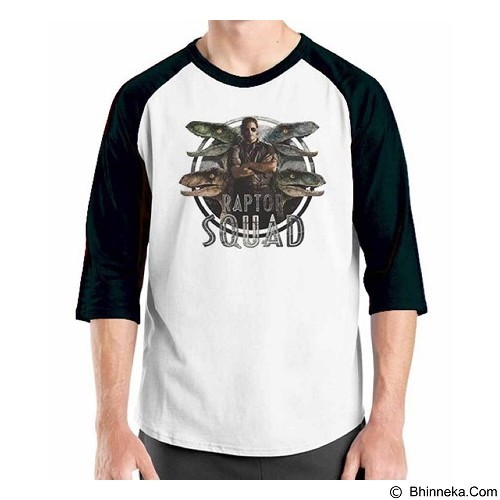 ORDINAL Raglan Jurassic World 10 Size XL (Merchant) - Kaos Pria