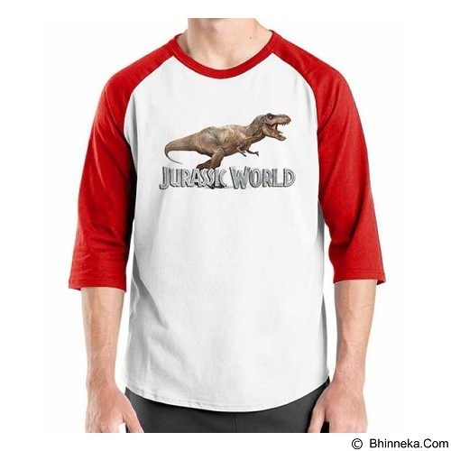 ORDINAL Raglan Jurassic World 11 Size ML (Merchant) - Kaos Pria