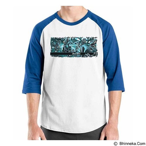 ORDINAL Raglan Jurassic World 12 Size ML (Merchant) - Kaos Pria