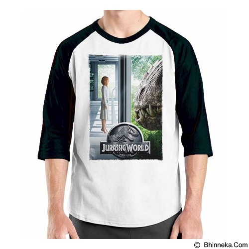 ORDINAL Raglan Jurassic World 16 Size ML (Merchant) - Kaos Pria