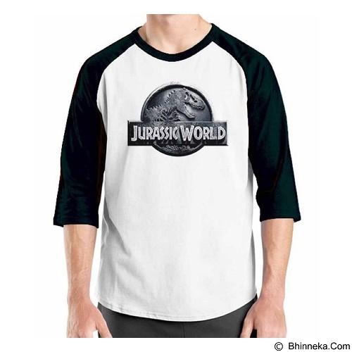 ORDINAL Raglan Jurassic World Logo 01 Size ML (Merchant) - Kaos Pria
