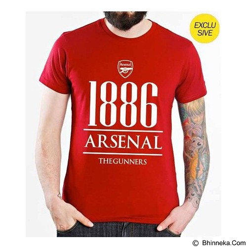 ORDINAL T-Shirt Premiere League Arsenal Year Size ML - Red (Merchant) - Kaos Pria