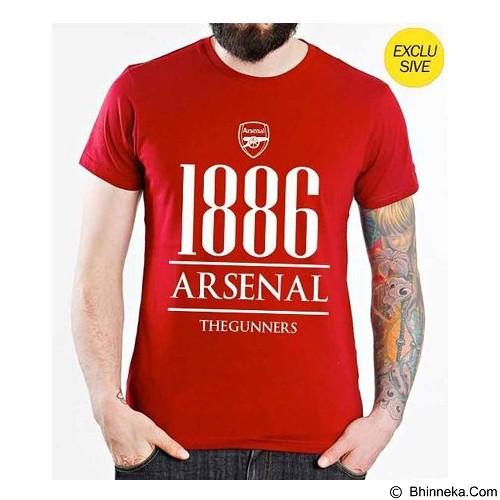 ORDINAL T-Shirt Premiere League Arsenal Year Size M - Red (Merchant) - Kaos Pria