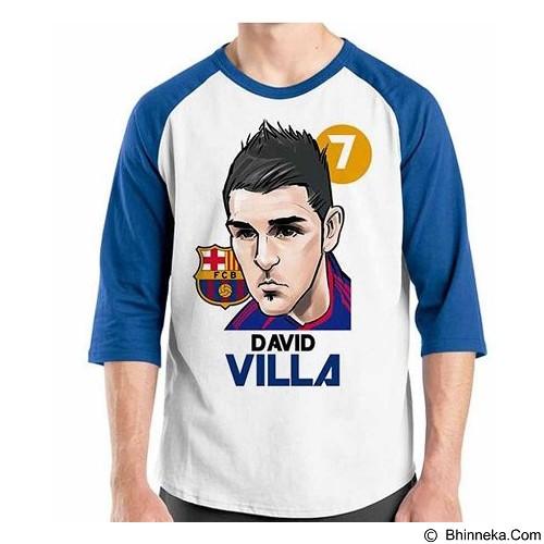 ORDINAL Raglan Football Player David Villa Size L (Merchant) - Kaos Pria