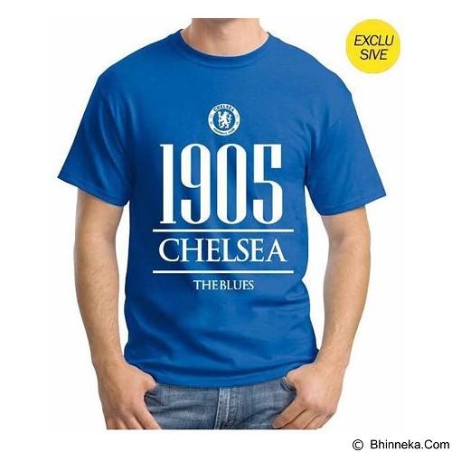 ORDINAL T-Shirt Premiere League Chelsea Year Size L - Blue (Merchant) - Kaos Pria
