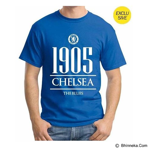 ORDINAL T-Shirt Premiere League Chelsea Year Size XL - Blue (Merchant) - Kaos Pria