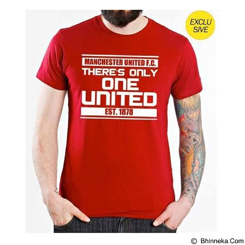 ORDINAL T-Shirt Premiere League Man United 04 Size XL - Red (Merchant) - Kaos Pria