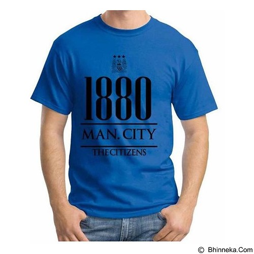 ORDINAL T-Shirt Premiere League Manchester City Year Size XL (Merchant) - Kaos Pria