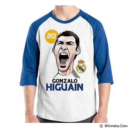 ORDINAL Raglan Football Player Higuain Size M (Merchant) - Kaos Pria