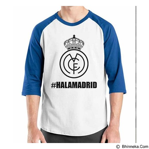ORDINAL Raglan Real Madrid Edition 02 Size XL (Merchant) - Kaos Pria