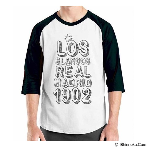ORDINAL Raglan Real Madrid Edition 04 Size XL (Merchant) - Kaos Pria