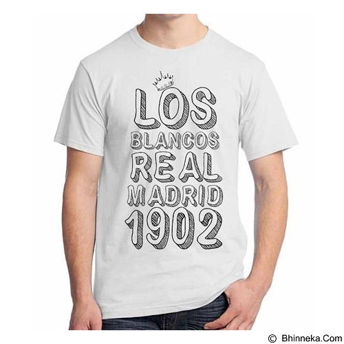 ORDINAL T-shirt Real Madrid Edition 04 Size L (Merchant) - Kaos Pria