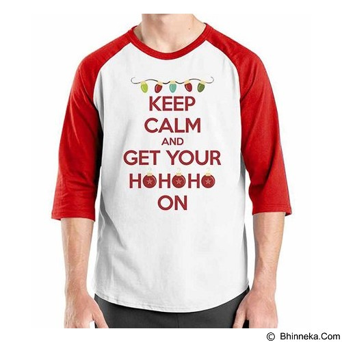 ORDINAL Raglan Quotes Christmas 01 Size XXL (Merchant) - Kaos Pria