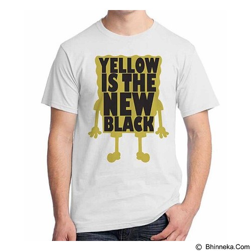 ORDINAL T-shirt Sponge Bob Yellow is New Black Size L (Merchant) - Kaos Pria
