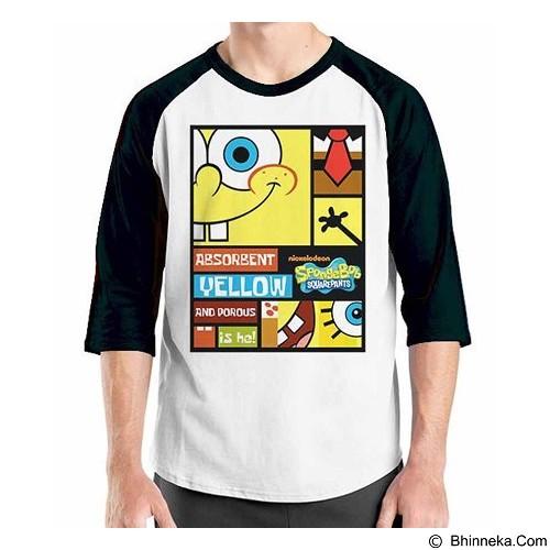 ORDINAL Raglan Sponge Bob Sponge Bob 04 Size M (Merchant) - Kaos Pria