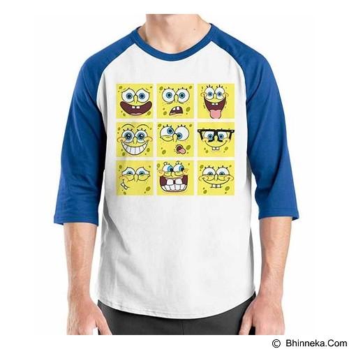 ORDINAL Raglan Sponge Bob Face Size XL (Merchant) - Kaos Pria