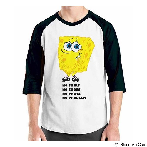 ORDINAL Raglan Sponge Bob Quotes 05 Size ML (Merchant) - Kaos Pria
