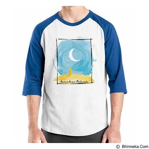 ORDINAL Raglan Ramadan Mubarak 01 Size M (Merchant) - Kaos Pria