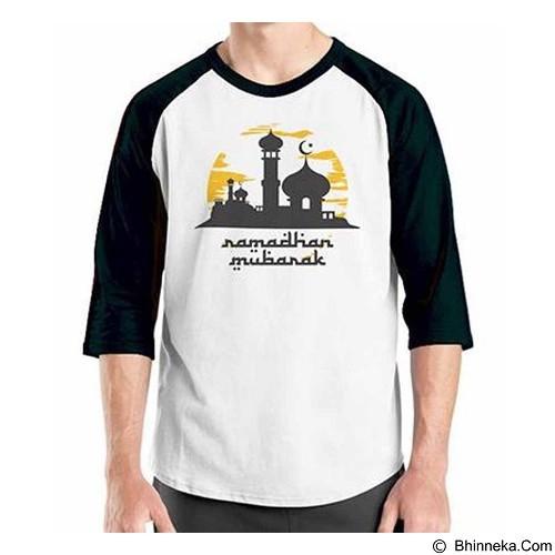 ORDINAL Raglan Ramadan Mubarak 02 Size XXL (Merchant) - Kaos Pria
