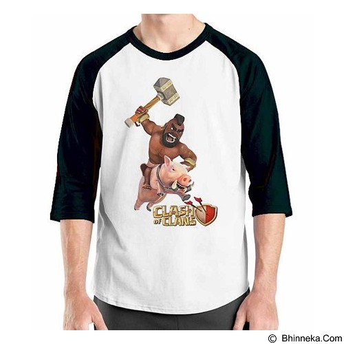 ORDINAL Raglan Clash of Clans 04 Size M (Merchant) - Kaos Pria