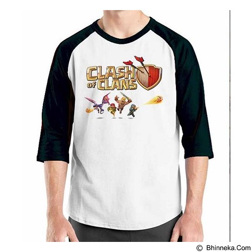ORDINAL Raglan Clash of Clans 03 Size M (Merchant) - Kaos Pria