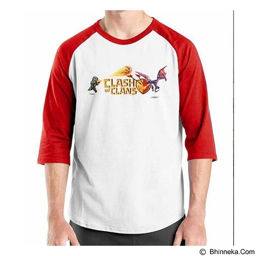ORDINAL Raglan Clash of Clans 07 Size M (Merchant) - Kaos Pria