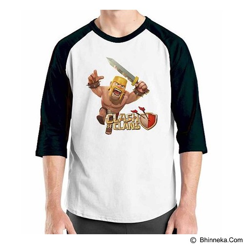 ORDINAL Raglan Clash of Clans 11 Size L (Merchant) - Kaos Pria