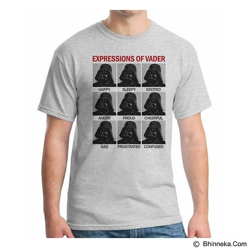 ORDINAL T-shirt Darth Vader Expression of Vader Size M (Merchant) - Kaos Pria