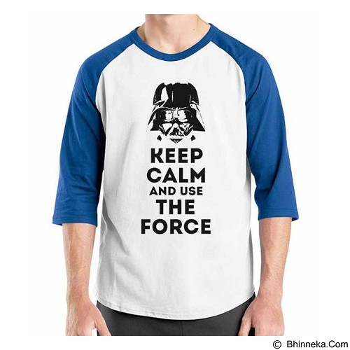 ORDINAL Raglan Darth Vader Darth Keep Calm Size L (Merchant) - Kaos Pria