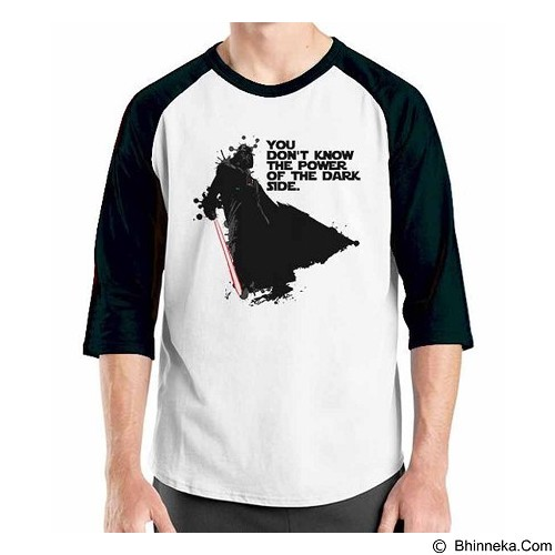 ORDINAL Raglan Darth Vader 02 Size XL (Merchant) - Kaos Pria