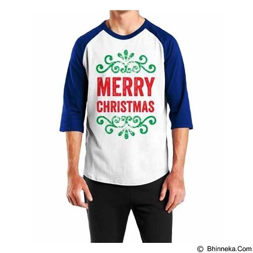 ORDINAL Raglan Christmas 02 Size L (Merchant) - Kaos Pria