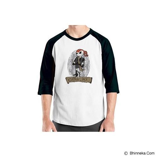 ORDINAL Alpha-Jack Skellington Raglan 09 Size L - Kaos Pria
