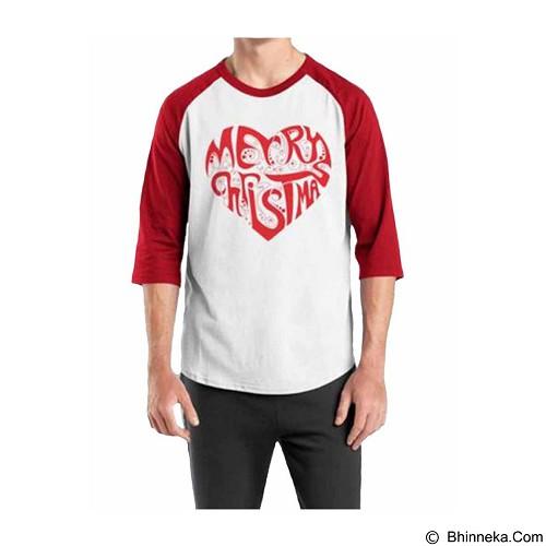ORDINAL Raglan Ordinal Christmas 03 Size M (Merchant) - Kaos Pria