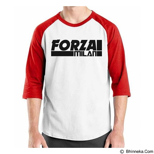 ORDINAL Raglan AC Milan Edition 07 Size ML (Merchant) - Kaos Pria