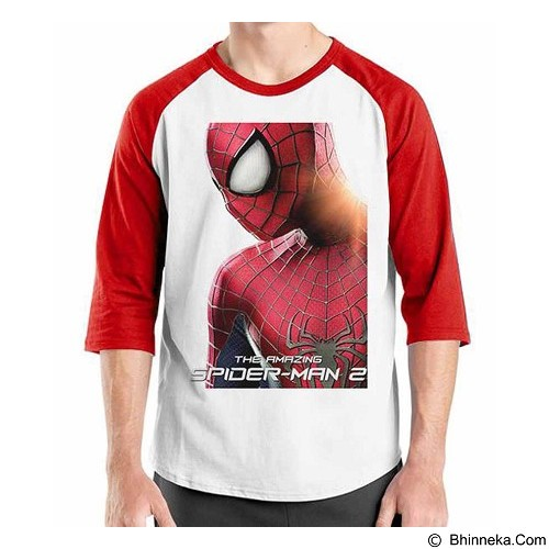 ORDINAL Raglan Amazing Spiderman 01 Size XXL (Merchant) - Kaos Pria