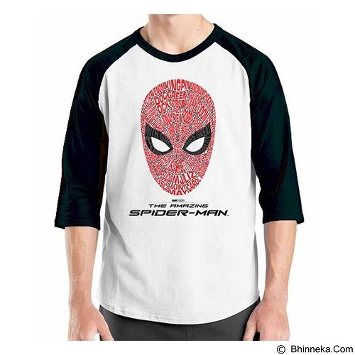 ORDINAL Raglan Amazing Spiderman 04 Size S (Merchant) - Kaos Pria