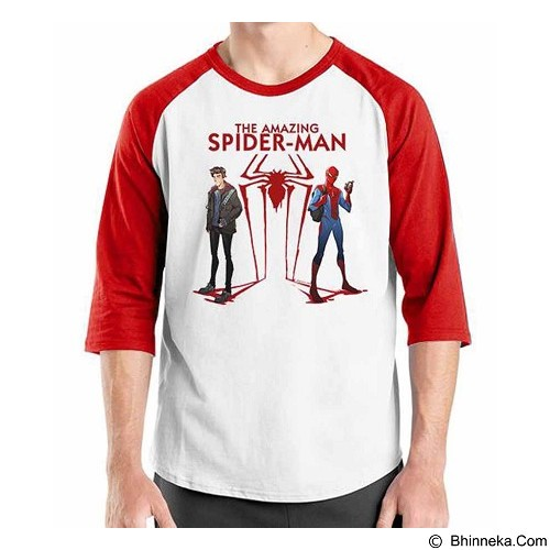 ORDINAL Raglan Amazing Spiderman 08 Size M (Merchant) - Kaos Pria
