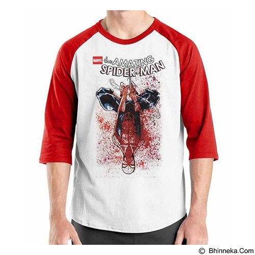 ORDINAL Raglan Amazing Spiderman 11 Size ML (Merchant) - Kaos Pria