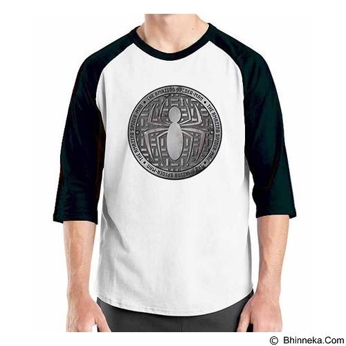 ORDINAL Raglan Amazing Spiderman Logo 03 Size M (Merchant) - Kaos Pria