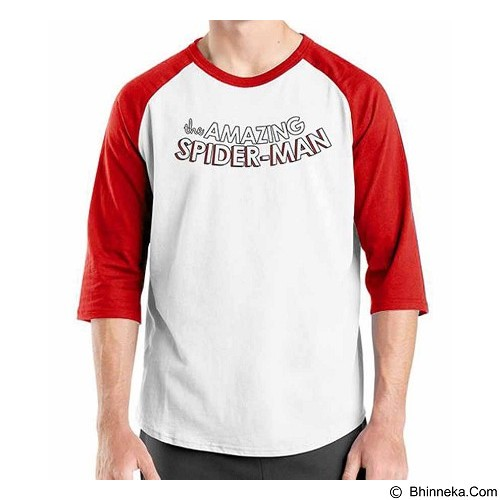 ORDINAL Raglan Amazing Spiderman Logo 05 Size ML (Merchant) - Kaos Pria