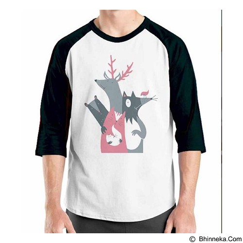 ORDINAL Raglan Animal Character 06 Size XL (Merchant) - Kaos Pria