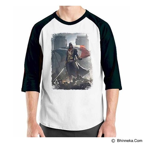ORDINAL Raglan Assassin Creed Unity 05 Size L (Merchant) - Kaos Pria