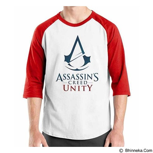 ORDINAL Raglan Assassin Creed Unity 08 Size L (Merchant) - Kaos Pria