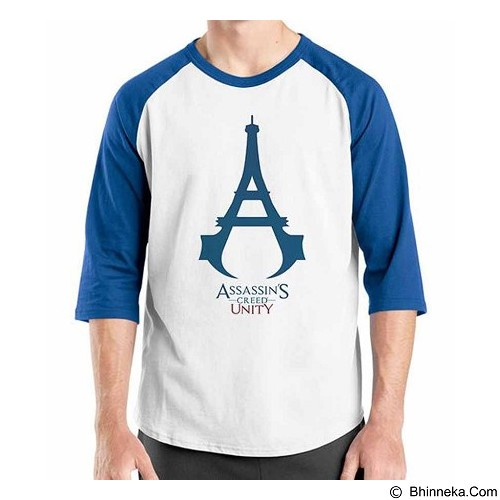 ORDINAL Raglan Assassin Creed Unity 09 Size ML (Merchant) - Kaos Pria