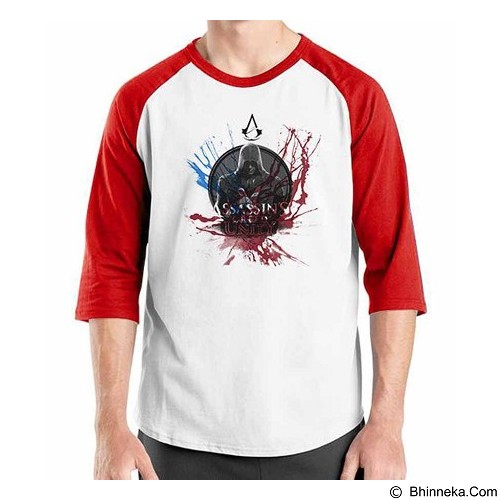 ORDINAL Raglan Assassin Creed Unity 11 Size ML (Merchant) - Kaos Pria