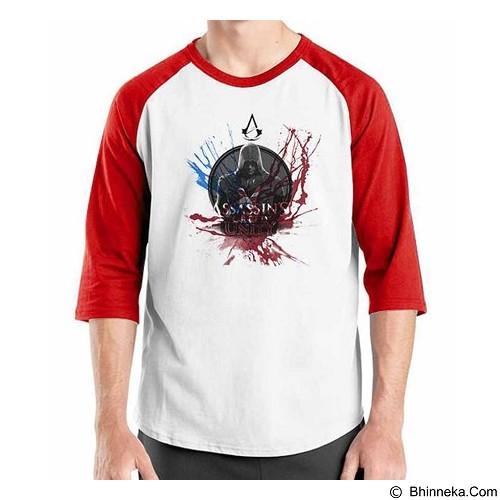ORDINAL Raglan Assassin Creed Unity 11 Size XXL (Merchant) - Kaos Pria