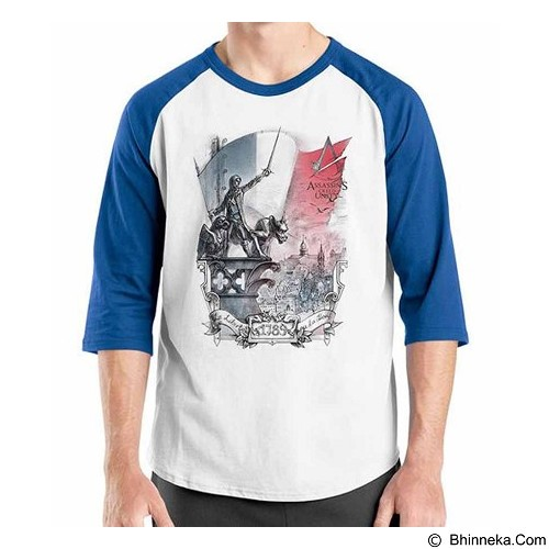 ORDINAL Raglan Assassin Creed Unity 14 Size ML (Merchant) - Kaos Pria