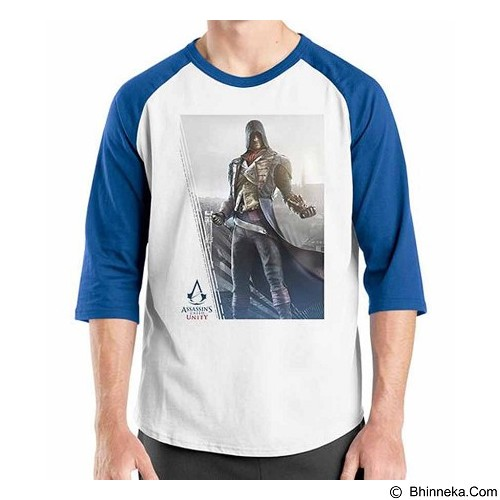 ORDINAL Raglan Assassin Creed Unity 15 Size XL (Merchant) - Kaos Pria