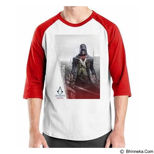 ORDINAL Raglan Assassin Creed Unity Logo 01 Size ML (Merchant) - Kaos Pria