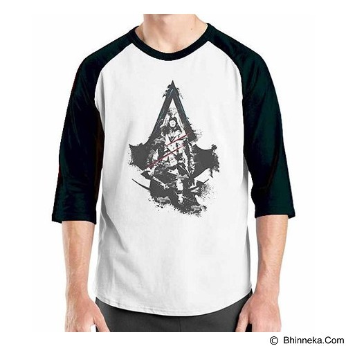 ORDINAL Raglan Assassin Creed Unity Logo 04 Size L (Merchant) - Kaos Pria